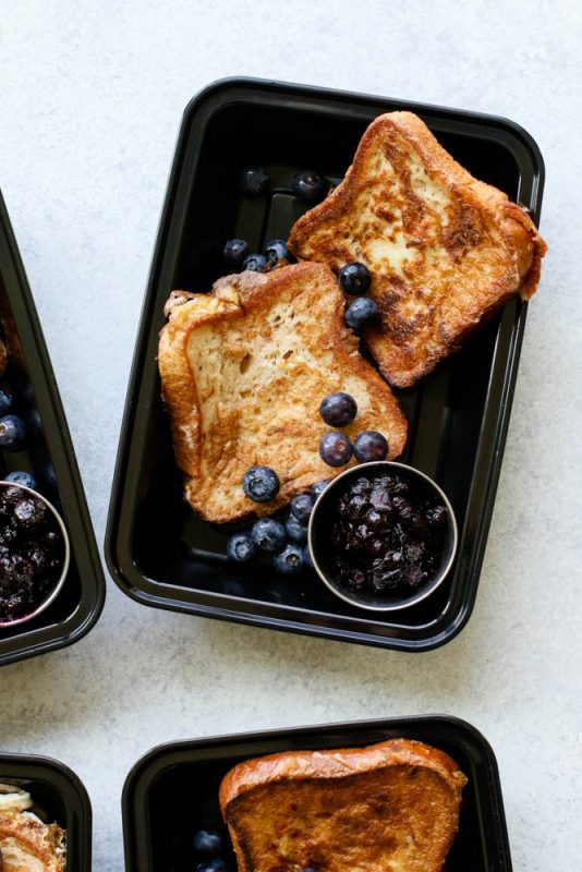 Blueberry Pie French Toast Meal Prep