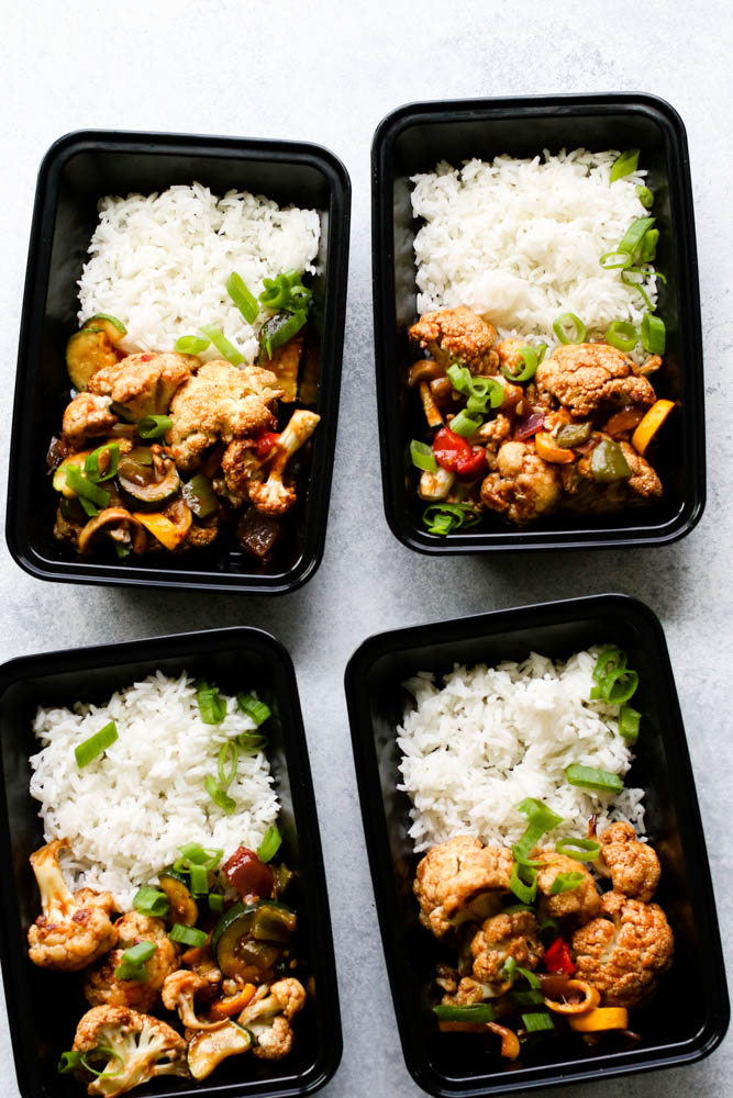 Sweet & Sour Cauliflower Bites Meal Prep