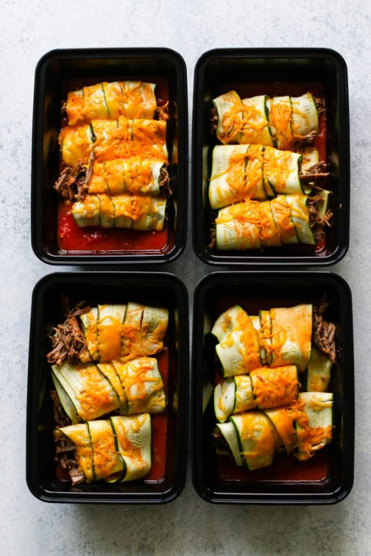 Beef Zucchini Enchilada Meal Prep--6