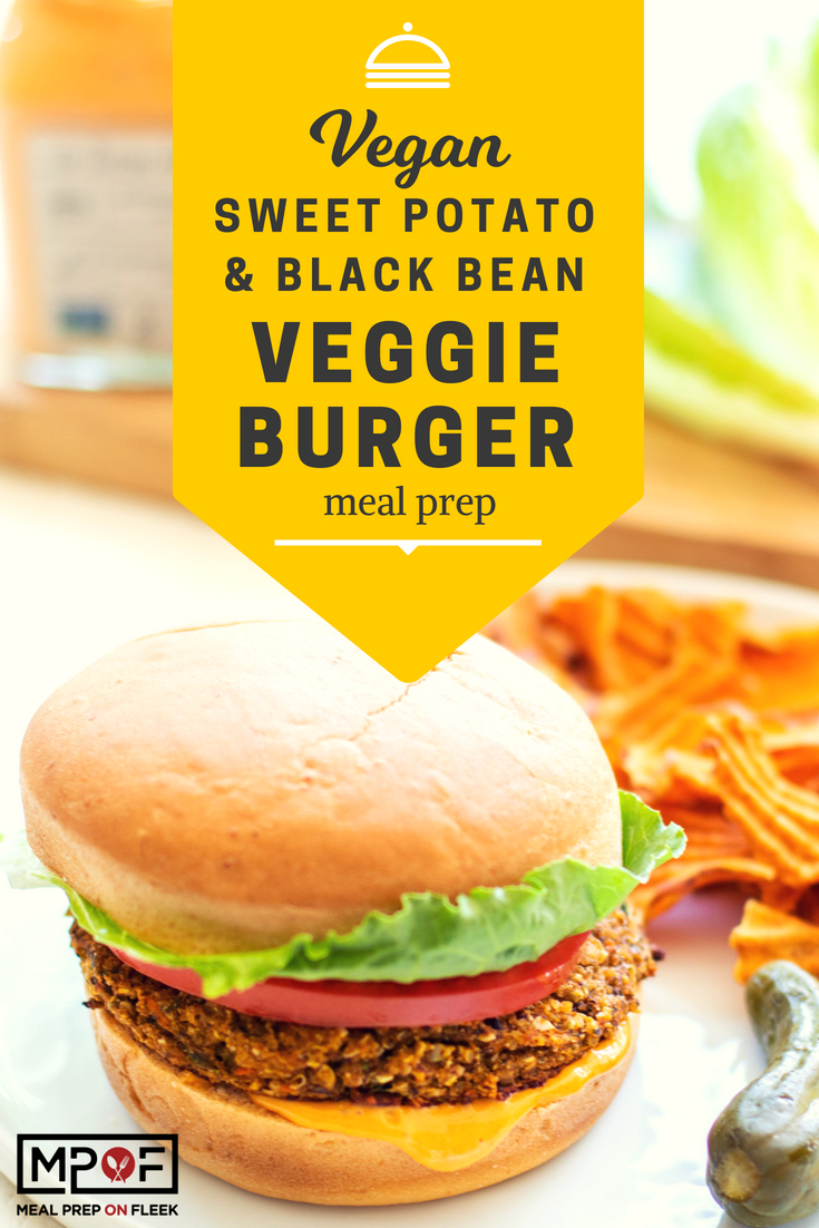 Vegan Sweet Potato & Black Bean Veggie Burger Meal Prep blog