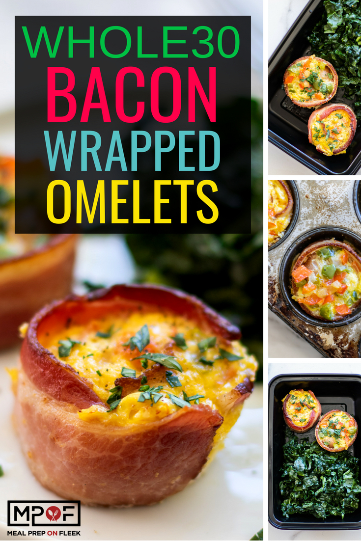 Whole30 Bacon Wrapped Omelets