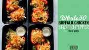 Whole30 Buffalo Chicken Stuffed Pepper Meal Prepblog