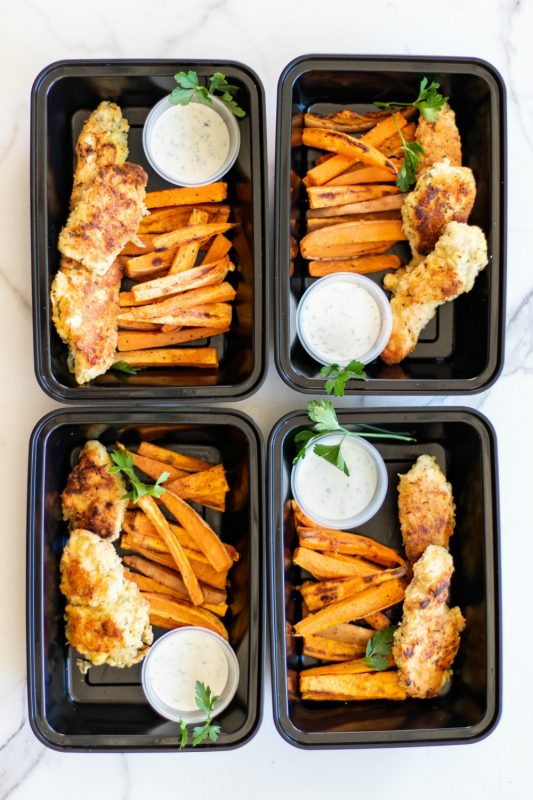 Chicken Finger & French Fry Meal Prep