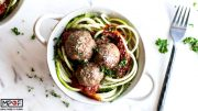 Keto Mozzarella Stuffed Meatball Meal Prep blog