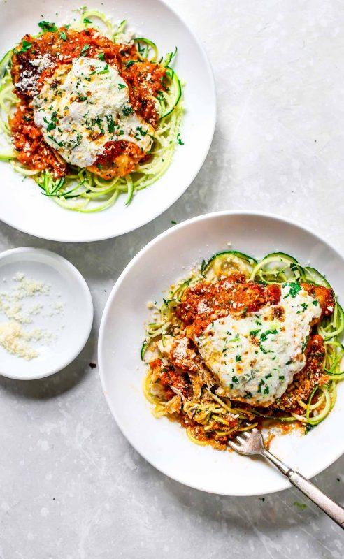 20 minute healthy chicken parmesan