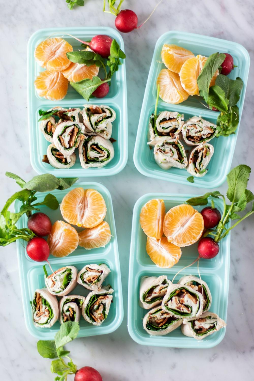 Keto Turkey Ranch Pin Wheel Snack Boxes