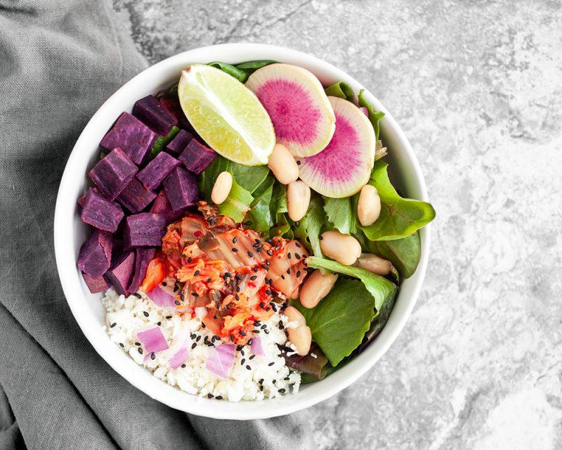 Kimchi Buddha Bowl Meal Prep