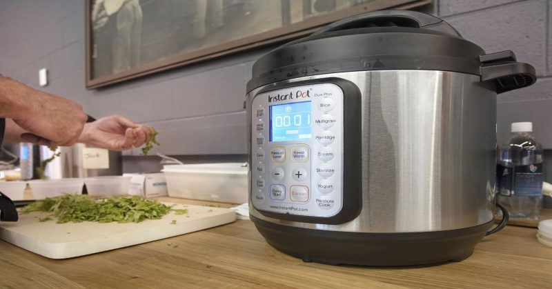 instant pot on a counter