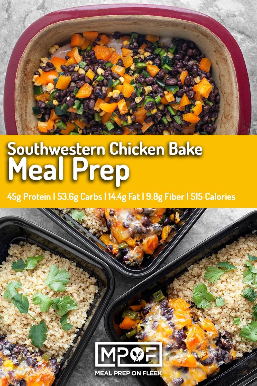 southwestern-chicken-bake-meal-prep-pinterest