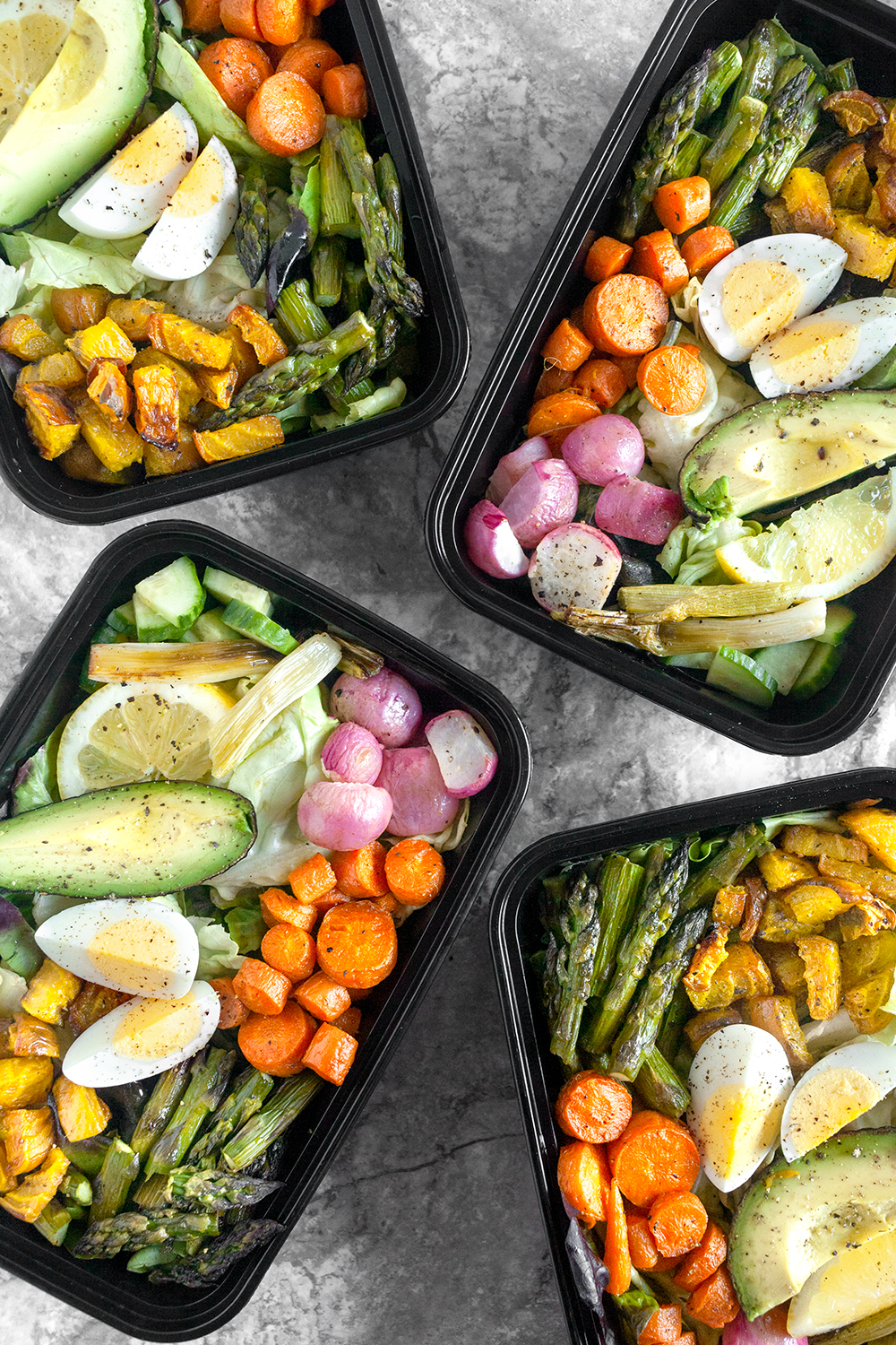 Vegetarian Cobb Salad Meal Prep