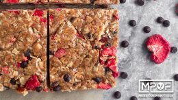 Strawberry Chocolate Almond Granola Squares