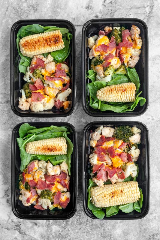 Bacon Ranch Chicken and Veggies Foil Packets