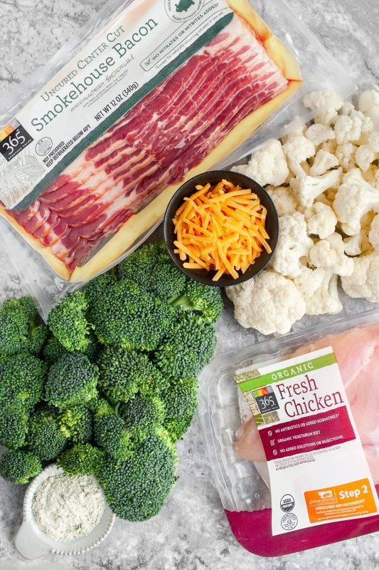 Chicken Bacon and Veggies Ingredients