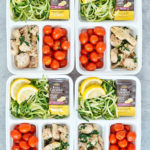 Garlic Coconut Butter Chicken Thighs and Zoodles