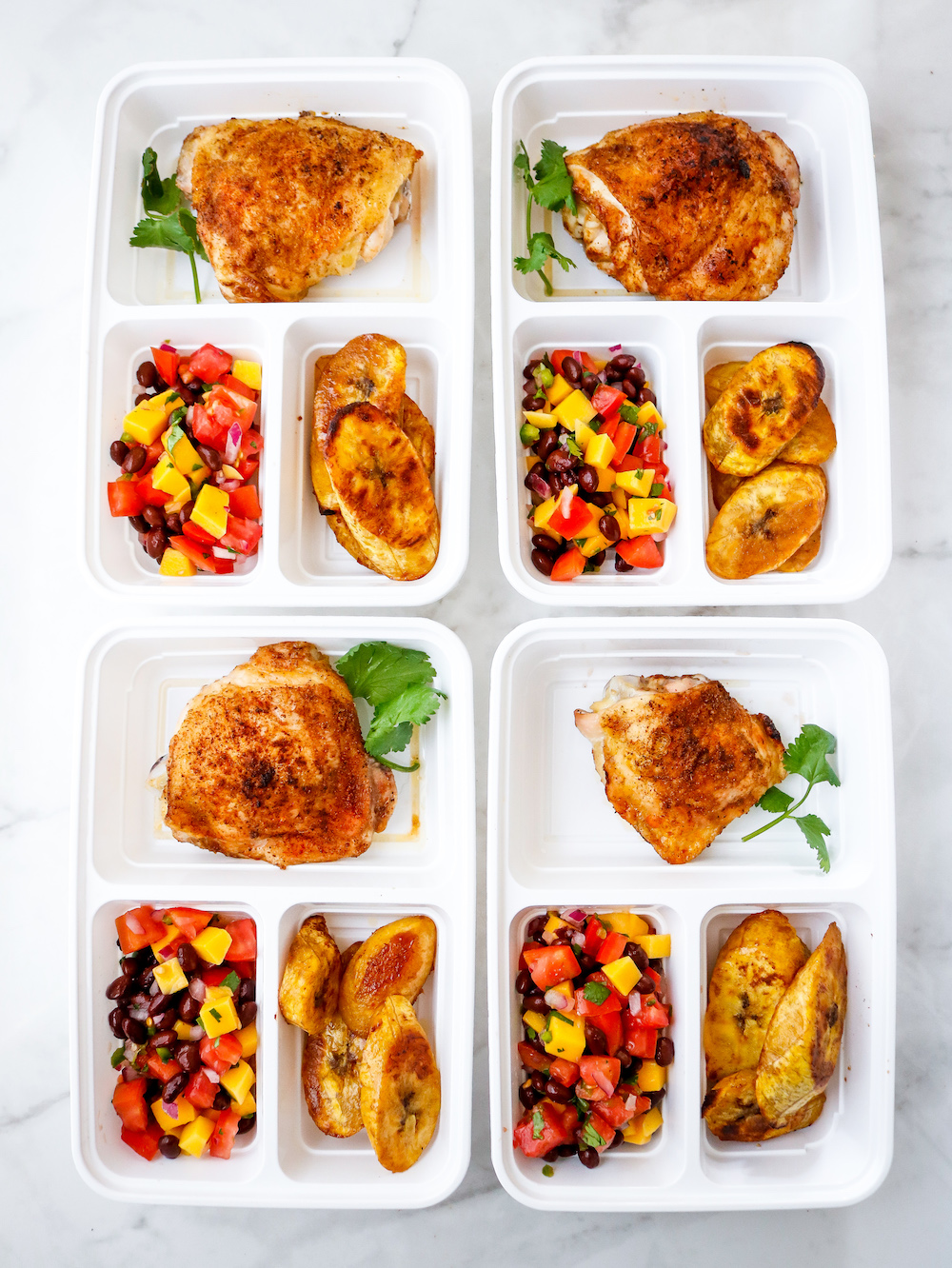 Sheet Pan Caribbean Chicken Thighs