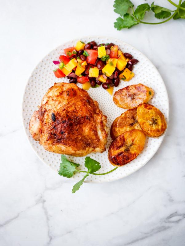 Sheet Pan Caribbean Chicken Thighs