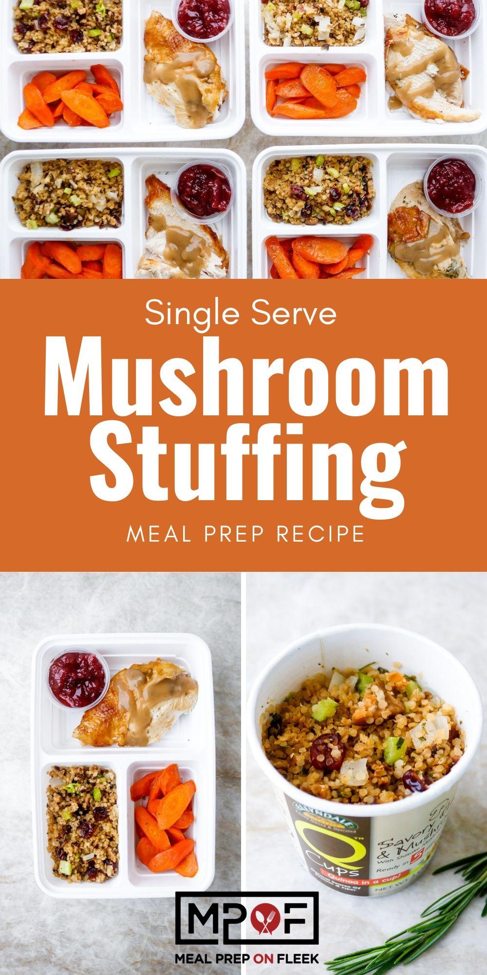Single Serve Mushroom Q-Cup Stuffing