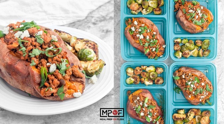 Turkey Stuffed Sweet Potatoes