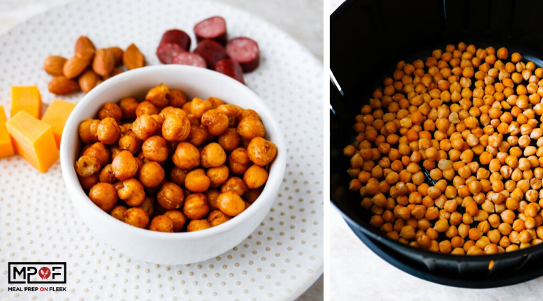 Air Fryer Cinnamon Sugar Chickpeas