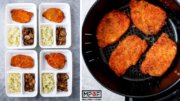 Air Fryer Pork Rind Coated Pork Chops