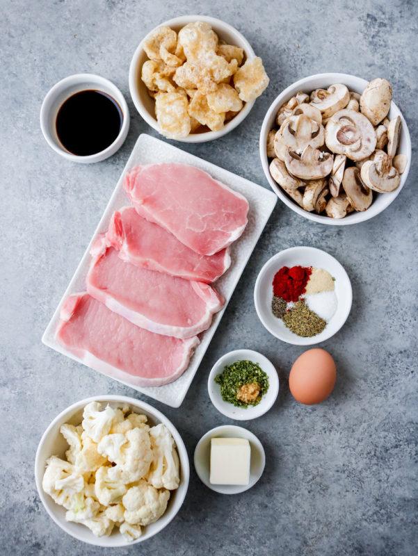 Air Fryer Pork Rind Coated Pork Chops (Paleo, Keto)