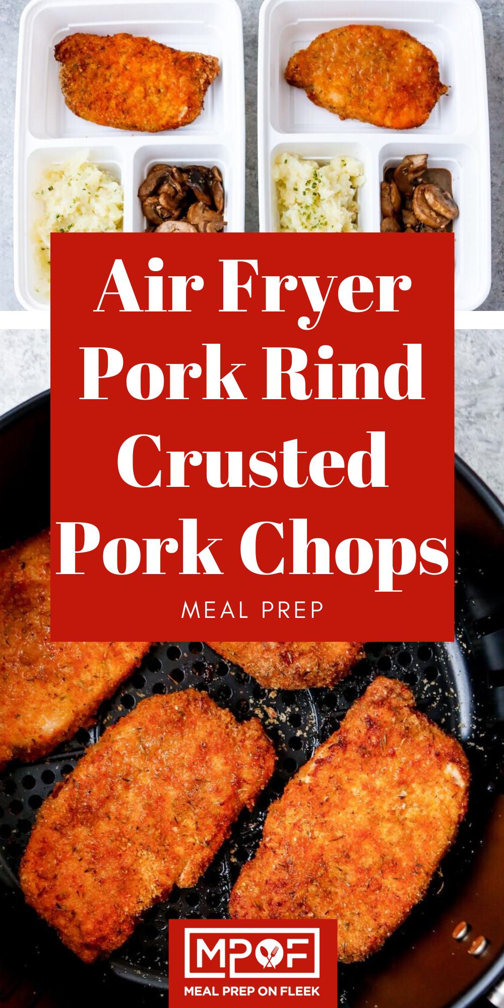 Air Fryer Pork Rind Coated Pork Chops