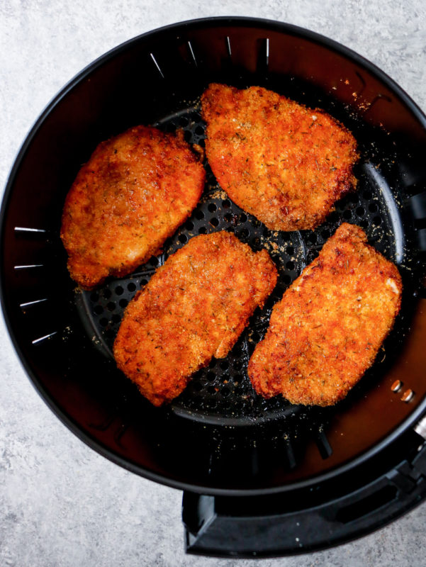 Air Fryer Pork Rind Coated Pork Chops (Paleo, Keto)