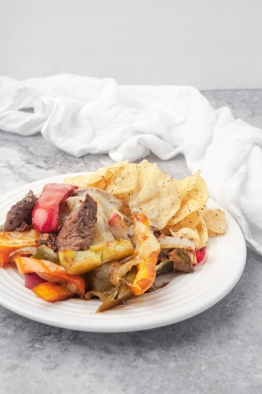 Sheet Pan Philly Cheesesteak