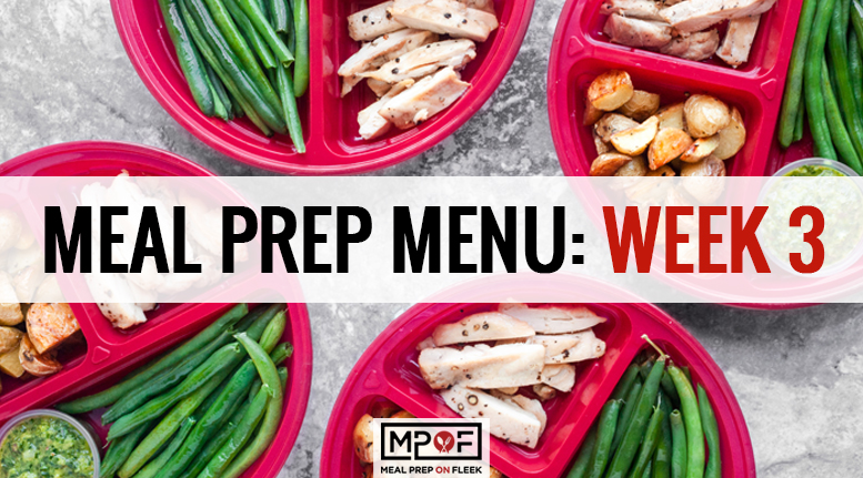 Meal Prep Menu: Week 3