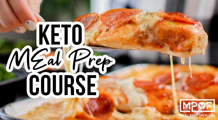 keto meal prep course banner