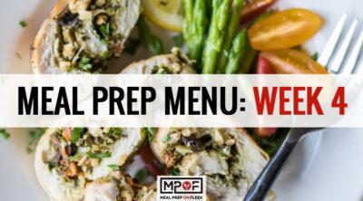 Meal Prep Menu: Week 4