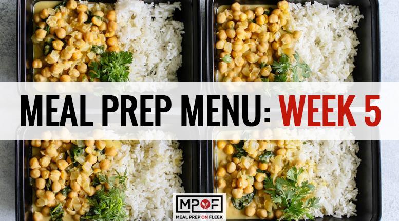 Meal Prep Menu: Week 5