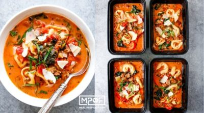 Spicy Italian Sausage and Tortellini Soup