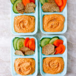 Roasted Red Pepper Hummus Snack Boxes