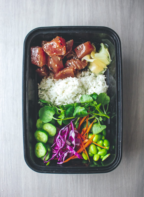 Ahi Tuna and Watercress Poke Bowl