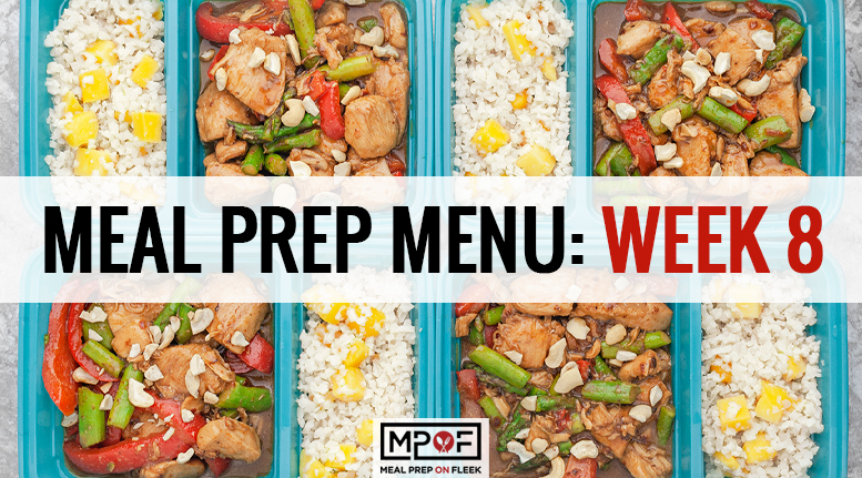 Meal Prep Menu: Week 8