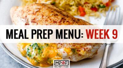 Meal Prep Menu: Week 9