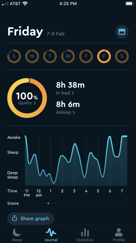 sleep cycle app screenshot