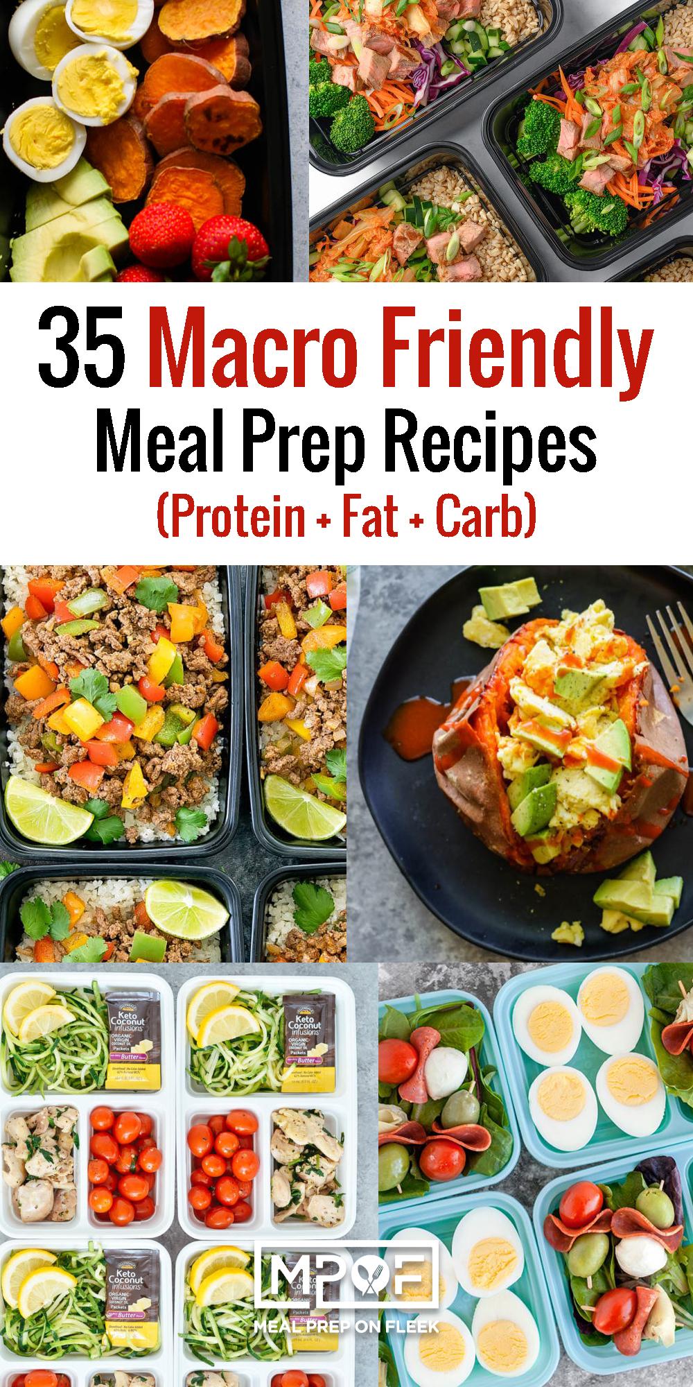 35 Macro Friendly Meal Prep Recipes
