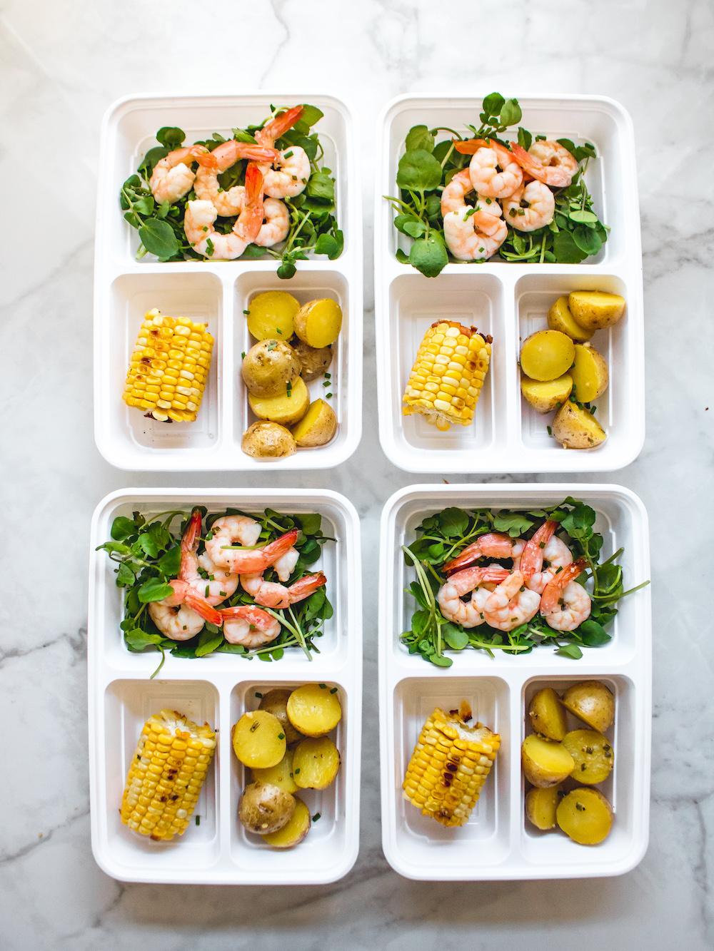Sheet Pan Butter Herb Shrimp Corn and Potato Bake