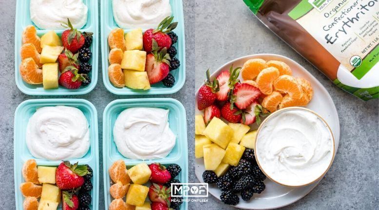Cream Cheese Fruit Dip Snack Box