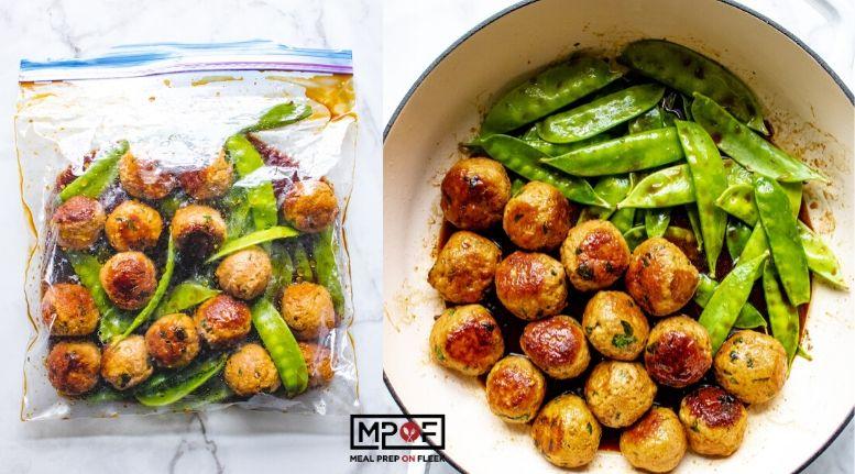 One Pan Asian Turkey Meatballs