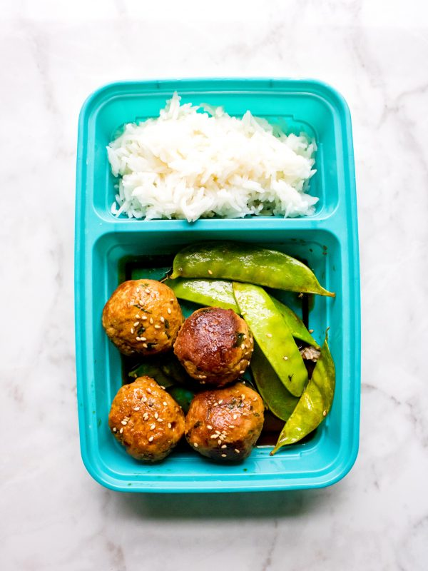 One Pan Asian Turkey Meatballs