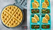 Savory Waffles with Kale and Bacon