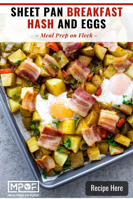 Sheet Pan Breakfast Hash and Eggs Pinterest