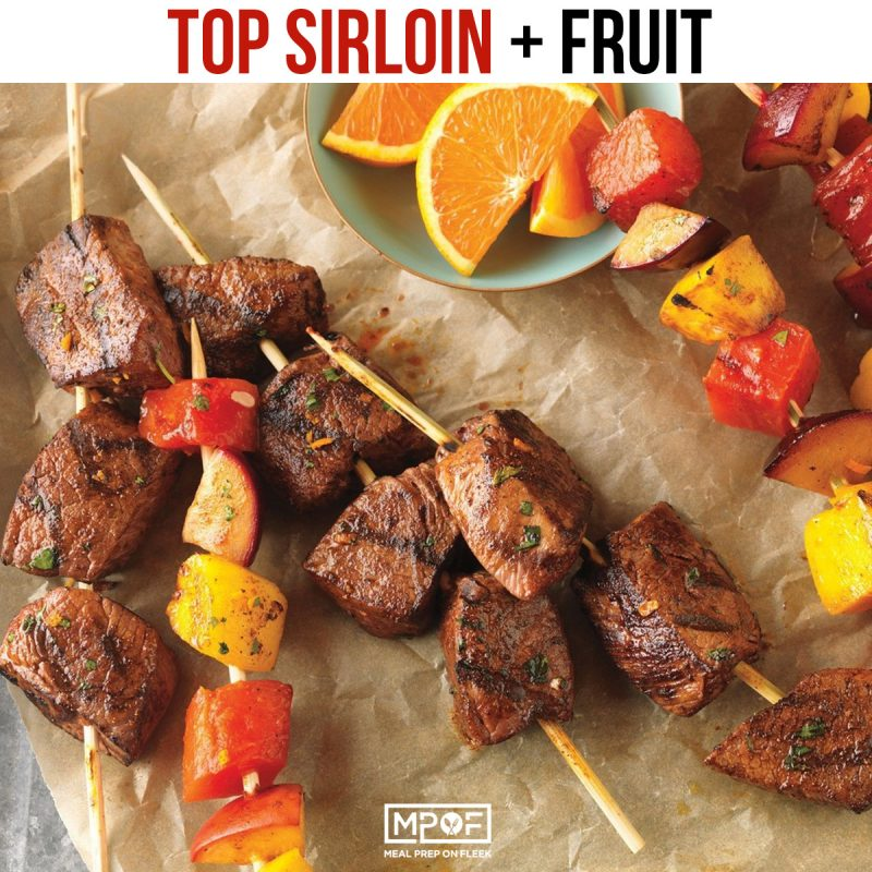 sirloin-and-fruit kabob