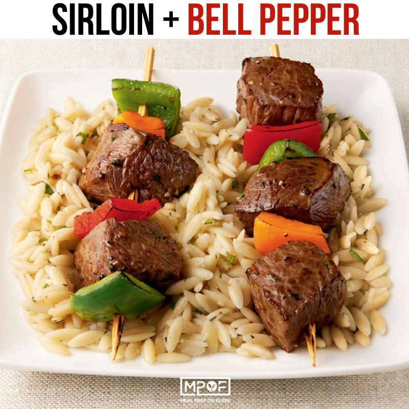sirloin-and-peppers kabob