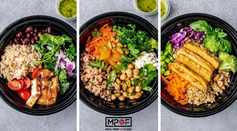 3 Easy Grain Bowl Meal Prep Recipes