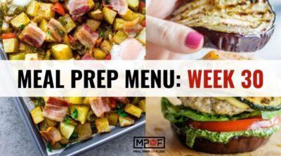 Meal Prep Menu_ Week 30