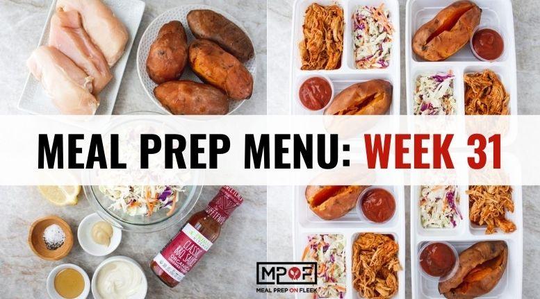 Meal Prep Menu_ Week 31
